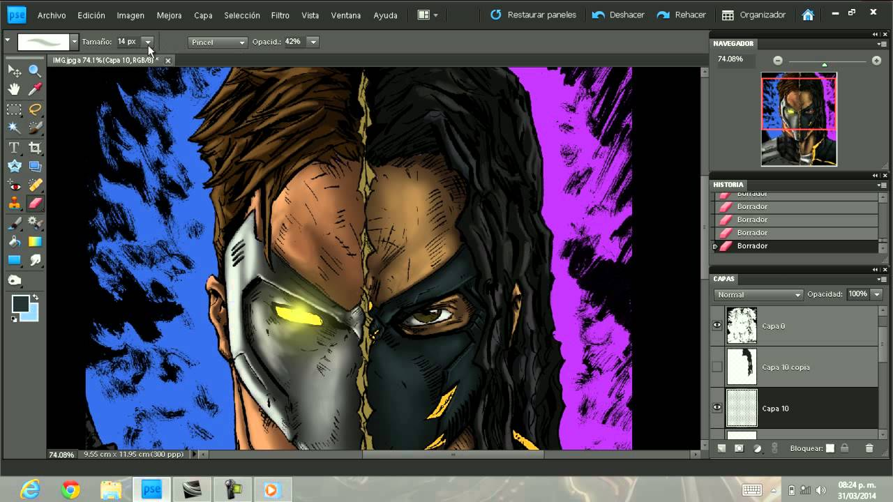 coloreado estilo comics en photoshop - YouTube