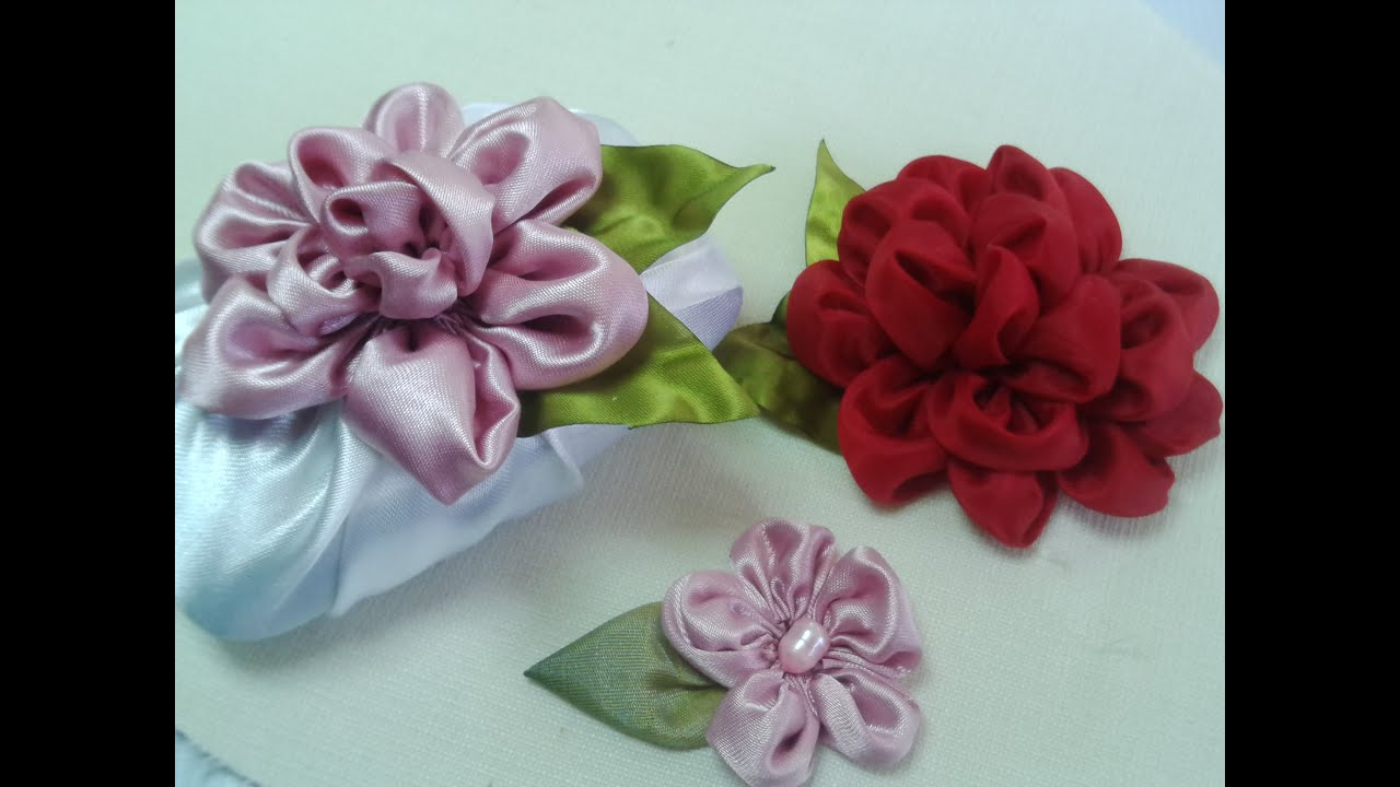 Flores de tela en circulos youtube - Flores de telas hechas a mano ...