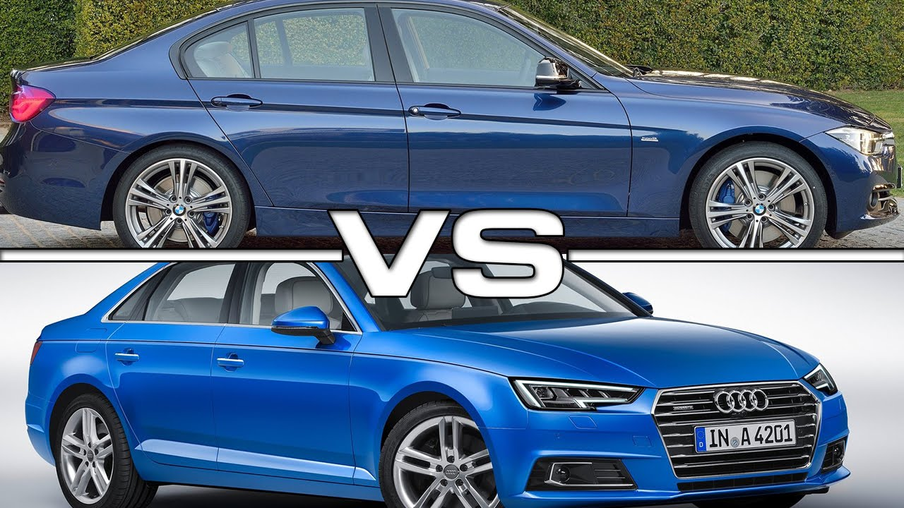 2016 bmw 3 series vs 2016 audi a4 - youtube