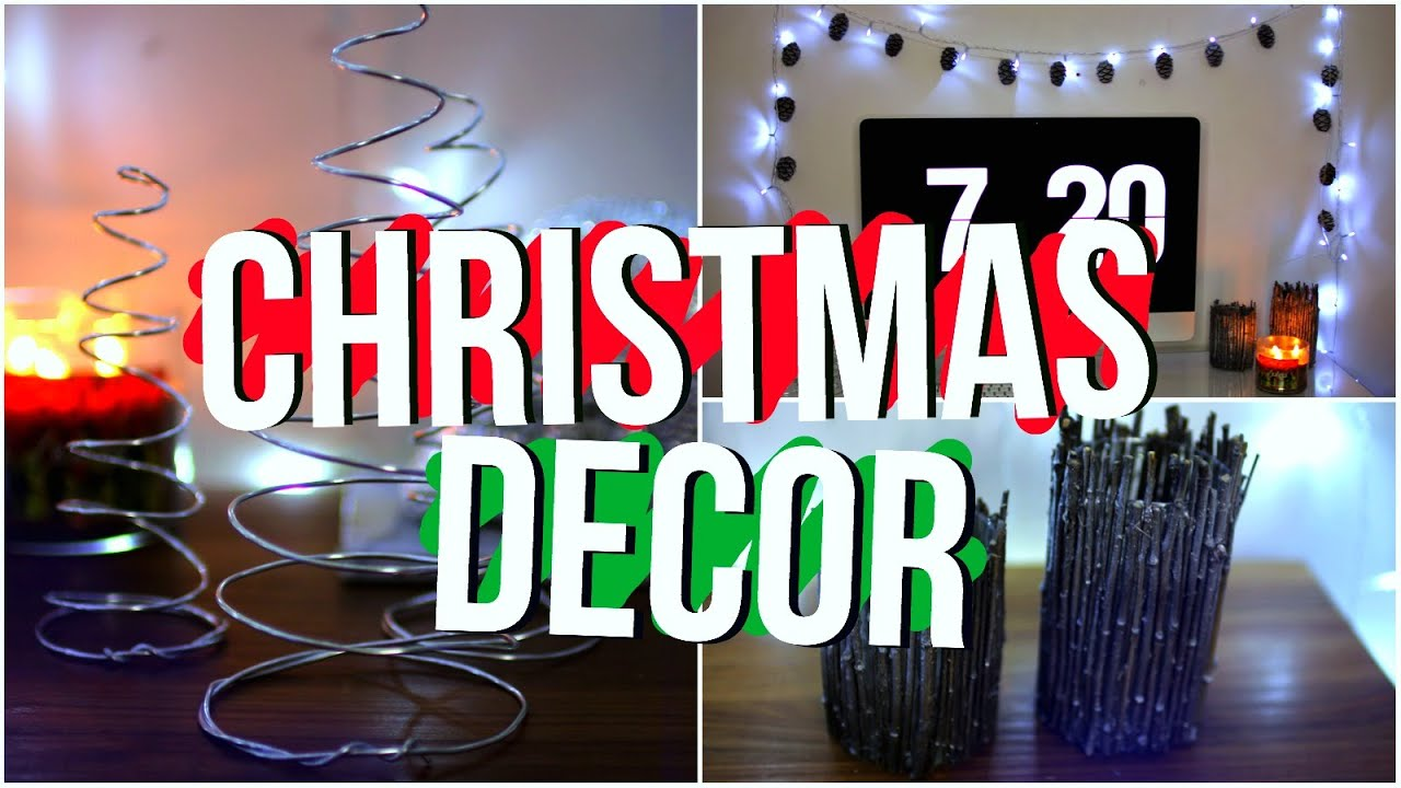 DIY Tumblr Room Decor 2015! Diy Christmas Holiday Room ...