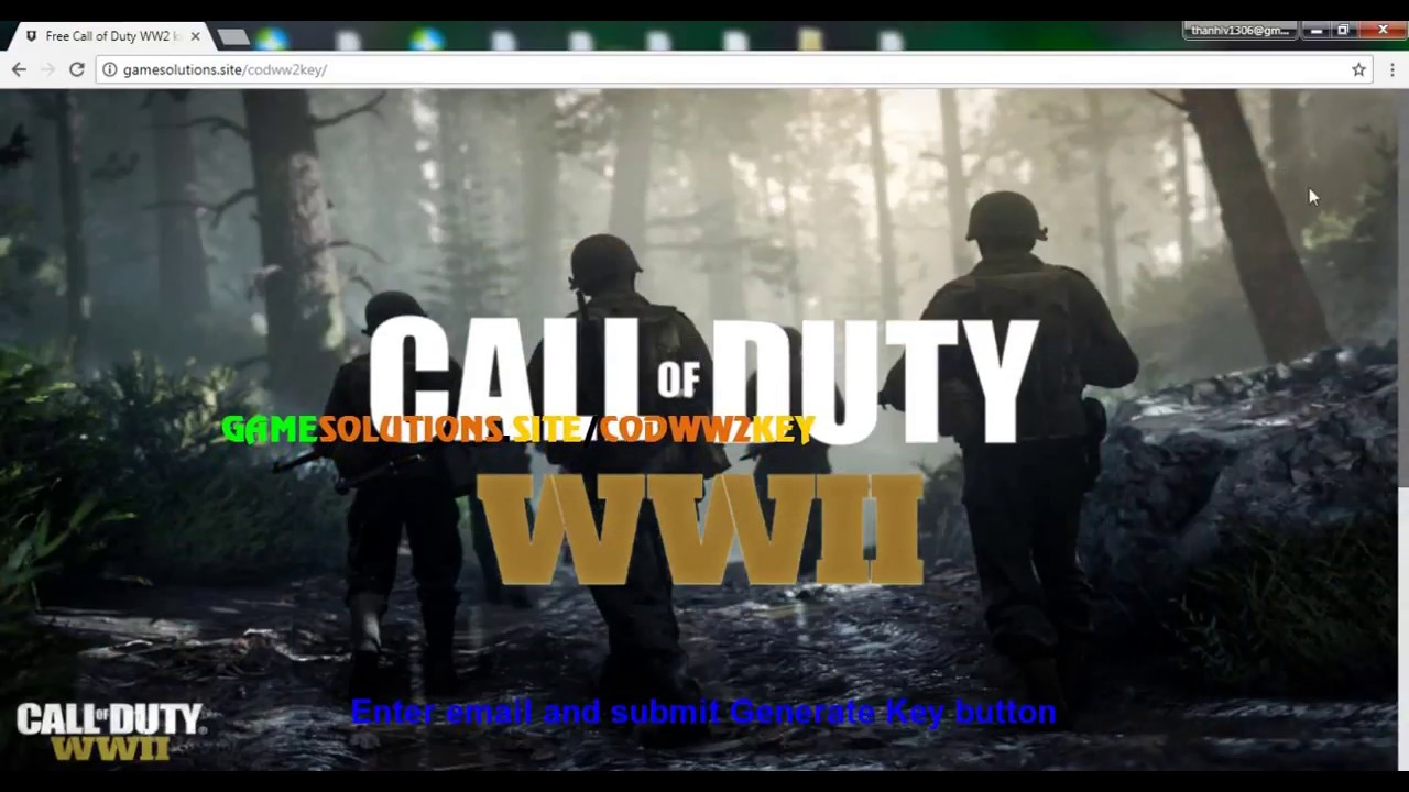 call of duty ww2 free key