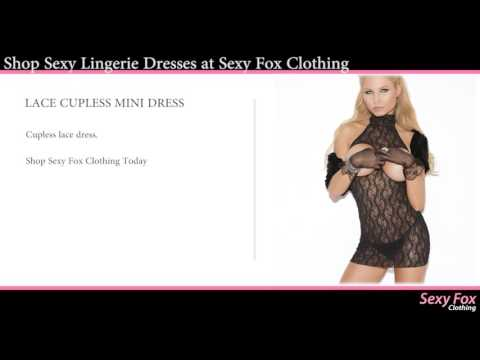 Sexy Lingerie Dresses - Sheer, Mesh, Fishnet Dresses At Sexy Fox Clothing