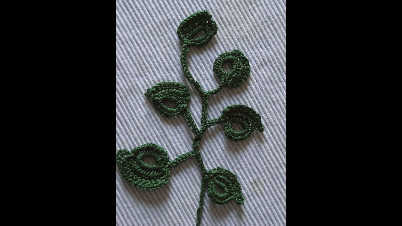 Motiv 4applikation Blätter Häkelncrochet Leaves Irish Lace