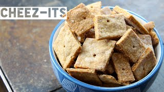 Healthy Cheez Its Recipe | How To Make Homemade Low Calorie Cheez Its
