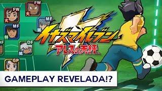 GAMEPLAY DO NOVO JOGO!? - Inazuma Eleven Ares no Tenbin (2018)