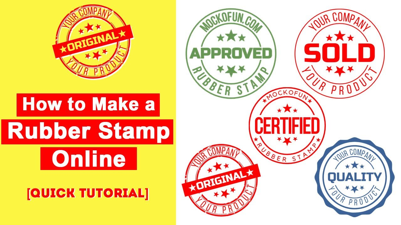 An Electronic Rubber Stamp Online