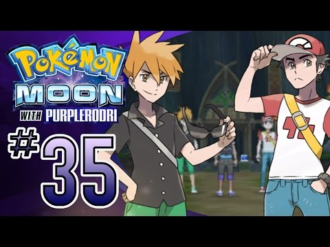 Let's Play Pokemon: Sun and Moon - Part 35 - Pokemon Trainers Blue & Red!
