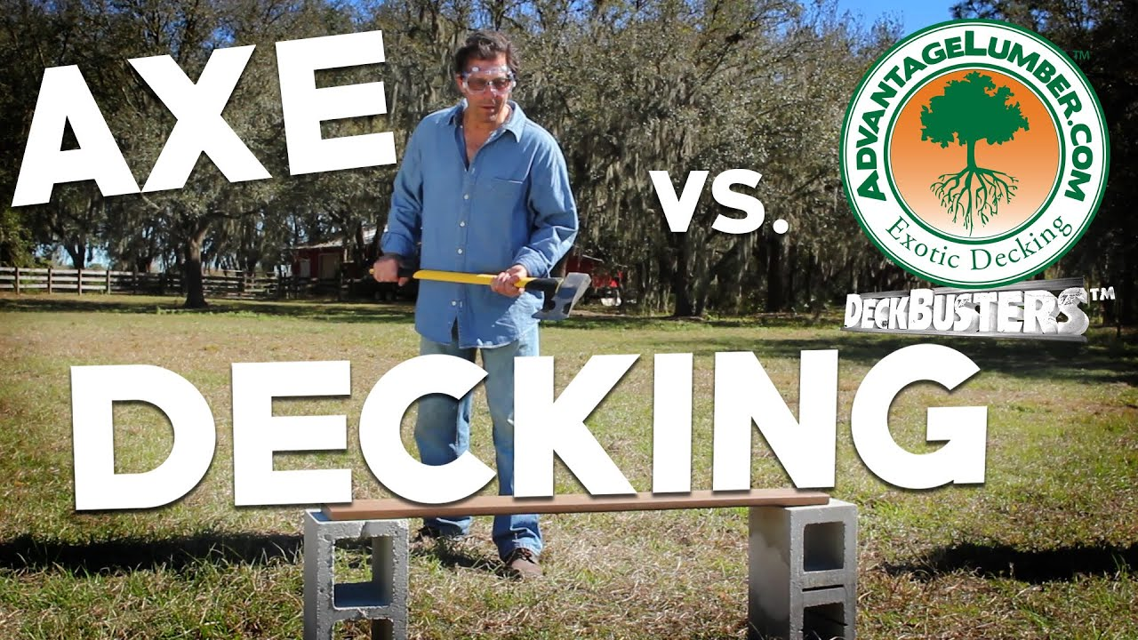 Deckbusters decking vs axe extreme deck material for Ipe decking vs trex