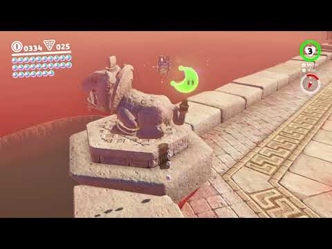Super Mario Odyssey - Sand Kingdom Moon #14: On the Statue's Tail