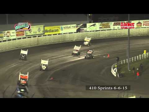Knoxville Raceway 410 Sprint Highlights from 6-6-15