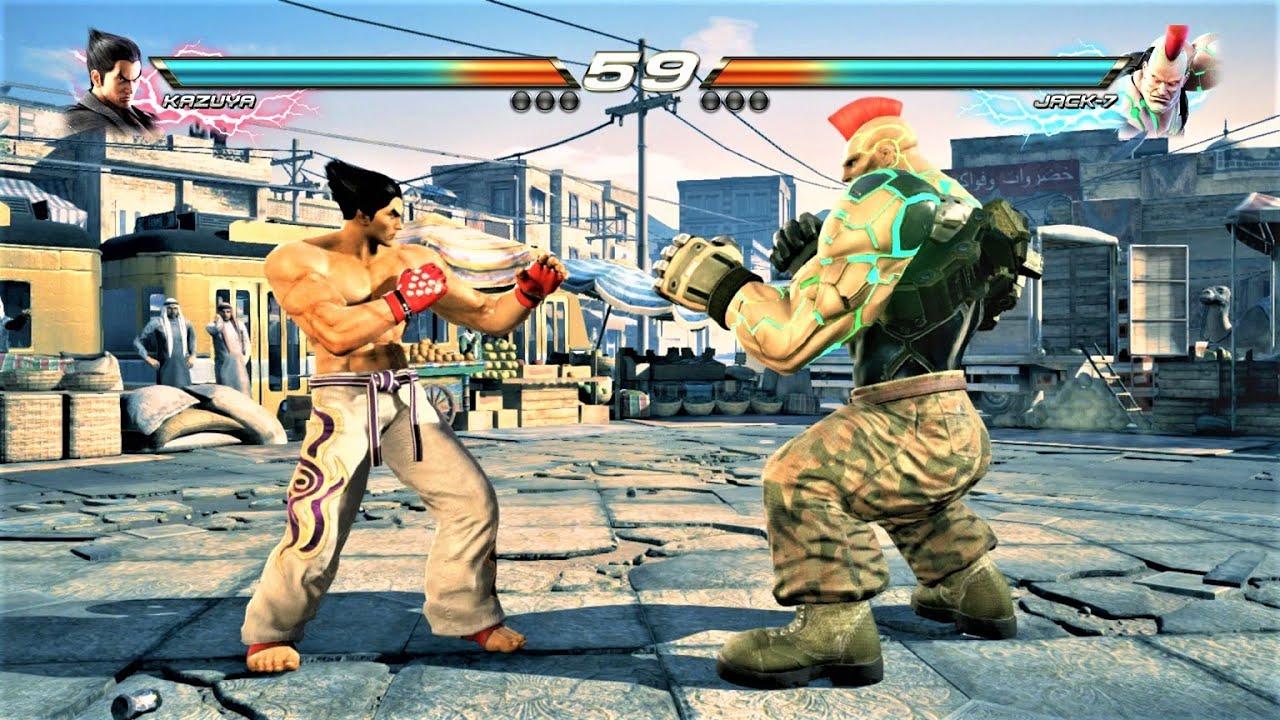 This is Gohan vs Android 16 in Tekken...Kazuya Mishima vs Jack-7 (Hardest AI) - Tekken 7