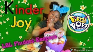UNBOXING NEW KINDER JOY SURPRISE TOYS PIKMI POPS LOL FINDERS KEEPERS TOYS FOR GIRLS and BOYS