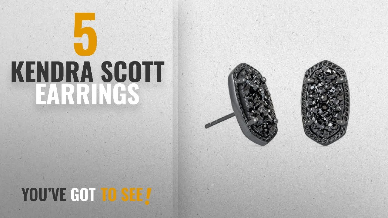 d5cba7df5 10 Best Kendra Scott Design Earrings: Kendra Scott Ellie Stud Earrings In Black  Drusy