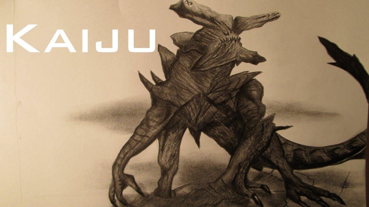 Dibujando Un Kaiju De Pacific Rim Dibujo De Un Monstruo Al