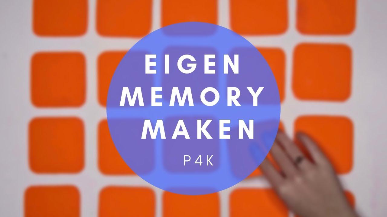Goede JE EIGEN MEMORY SPEL MAKEN - YouTube KW-37