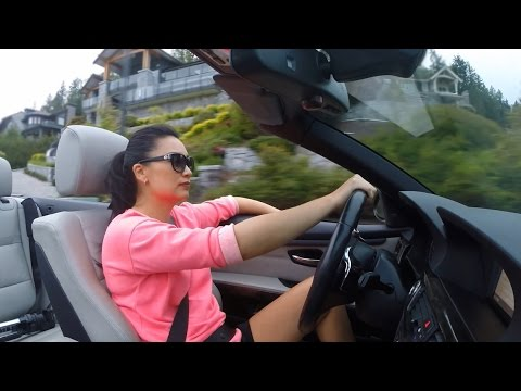 Driving a 335 Around Vancouver's Most Beautiful Houses | GoPro and Drone | BMW E93 (HD)