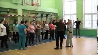 Веселая эстафета учителя-ученики