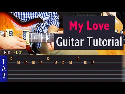 Wale - My Love (ft. Major Lazer, WizKid, and Dua Lipa) - Guitar Lesson