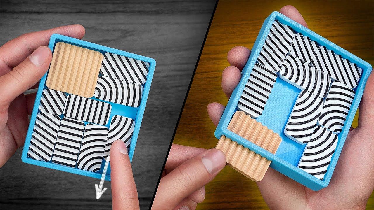 Попробуй освободить квадрат | Как это возможно | Головоломка на 3D принтере