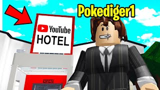 I Made A FAKE YOUTUBER Hotel To TRAP Youtubers! (Roblox Bloxburg)