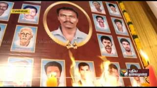 Sixth death anniversary of Muthukumar who lost his life for a common cause