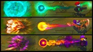 Dragon Trainer Tristana vs Omega Squad vs Bewitching Legendary vs Epic Skins Comparison (LoL)