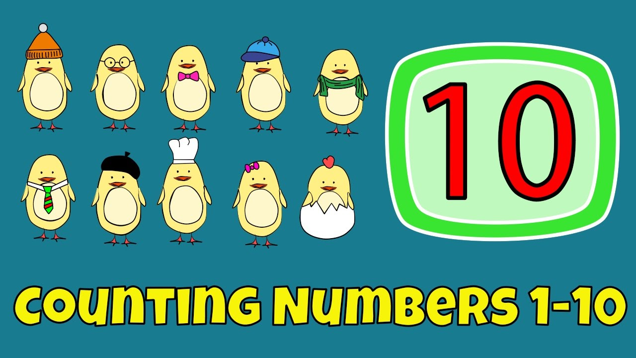 Counting Numbers Numbers 1 10 Lesson For Children Youtube