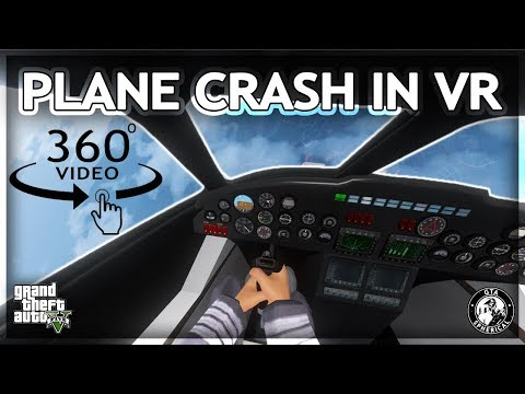 Plane Crash in Virtual Reality – 360° GTA V