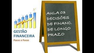 Aula 03 - Decisões de Financiamentos de Longo Prazo: Custo de Capital