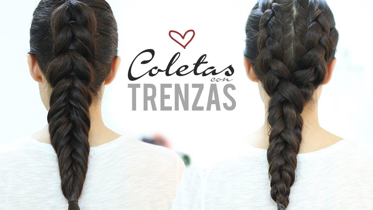 Peinados Faciles Y Bonitos Con Trenzas Youtube