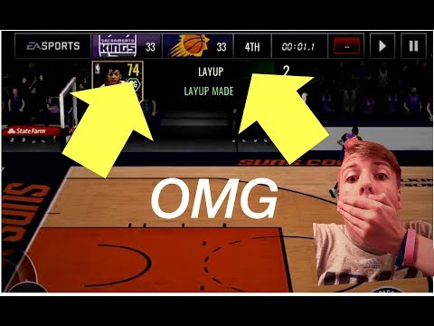 NBA Live Mobile CRAZY (Tied Clutch or Win)