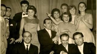 Edda Montanari & Gino Antolini + foto di gruppo (2° festival vn Castrocaro) 1958