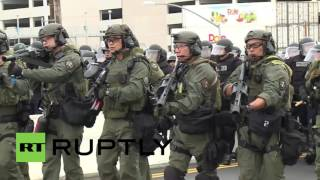 USA: Protesters clash outside Trump rally, multiple arrests made