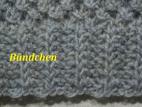 Bündchenmuster Stricken** Muster Stricken*Muster Für Pullover-Mütze*Tutorial Handarbeit