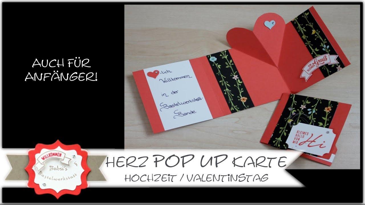 Pop Up Karte Mit Herz Hochzeitskarte Valentinstagskarte