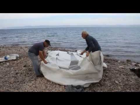 Recycling Refugee Boats - Lesbos Greece