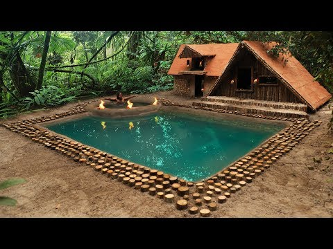 Building The Most Amazing Swimming Pool In Front Of Wonderful Ancient Winter Villa