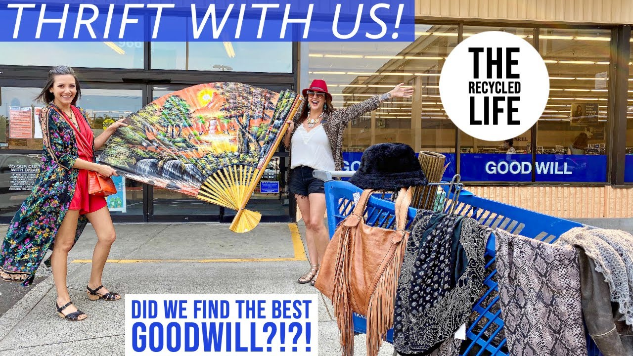 GOODWILL THRIFTING! Thrift With Us! We Hit Laura's Favorite Goodwill | The Recycled Life
