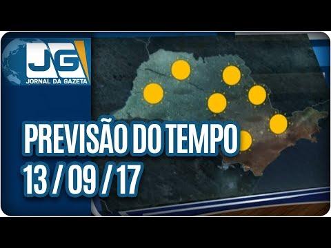 Previsão do Tempo - 13/09/2017