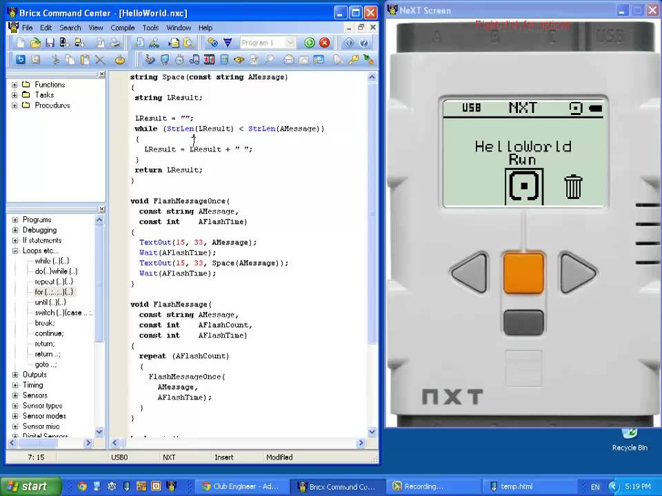 Mindstorms NXT - Introduction to NXC Programming - 09 - The while ...