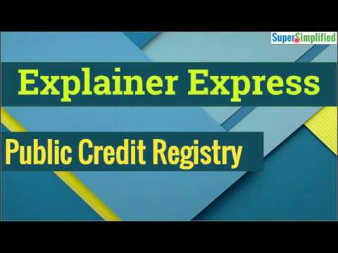 Explainer Express - Lecture 3: Public Credit Registry