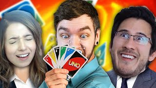 I'm REALLY GOOD at Uno | Uno w/ Markiplier & Pokimane