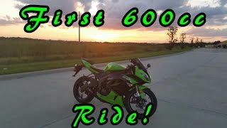 First Time on a 600cc Bike! Kawasaki Ninja ZX6R