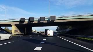 Dashcam Beelden Utrecht: A27 Toerit Maarssen -----»Knooppunt Eemnes.