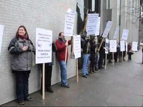 Union Terrace Garden campaigners in Aberdeen