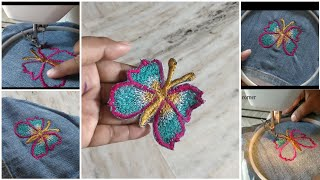 Diy old jeans తో patches చేసుకోండి//dresses,sarees,frocks patches from old jeans//easy method