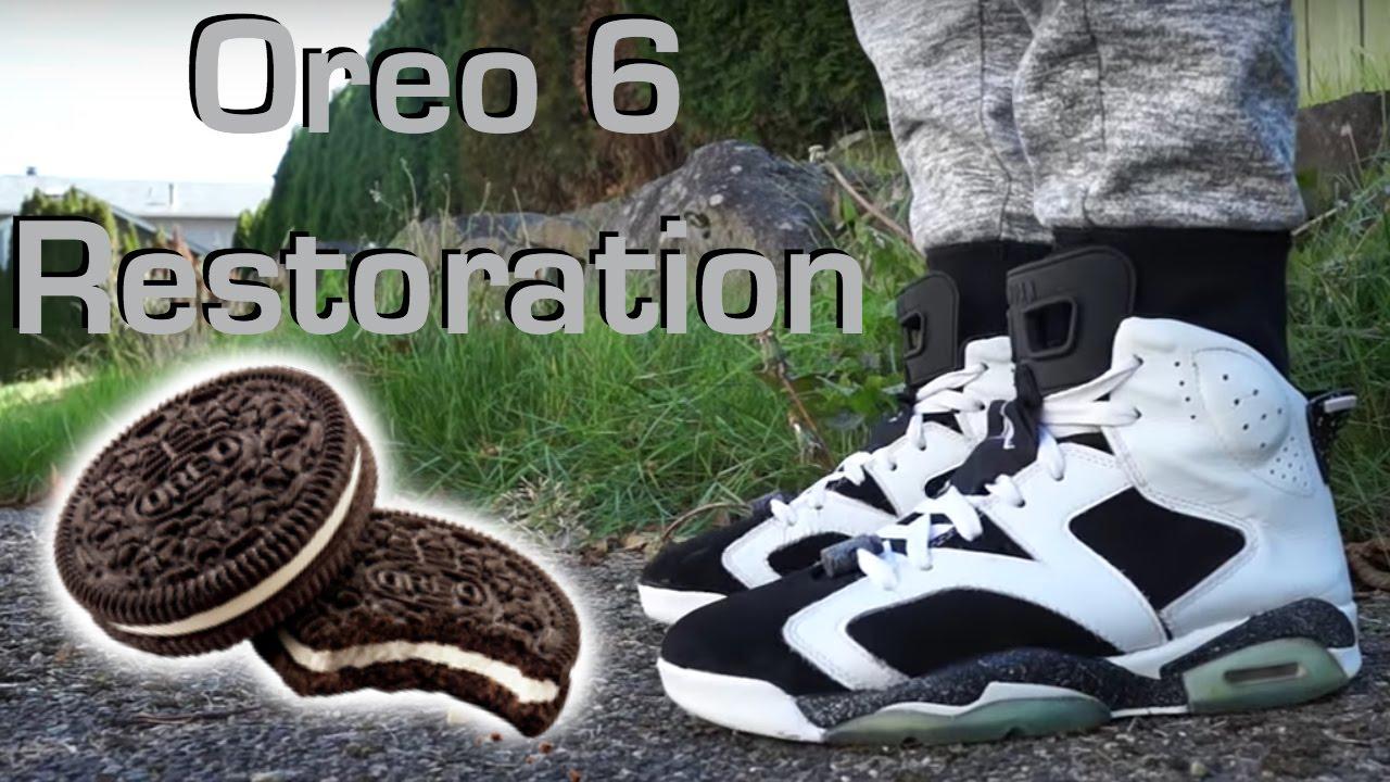 88ed16ac42a Jordan Oreo 6 Restoration! How to Clean Oreo 6's!