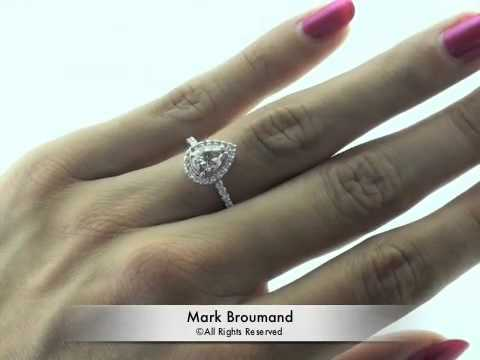 1 97ct Fancy Light Pink Brown Pear Shape Diamond Engagement Anniversary Ring Mark Broumand Youtube