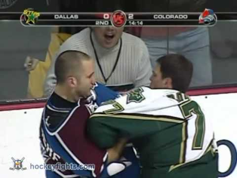 Matt Barnaby vs Ian Laperriere Oct 4, 2006