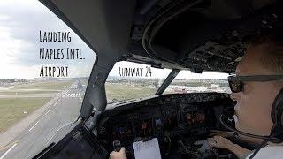 Approach & landing runway 24 Naples Intl. Airport (LIRN NAP)